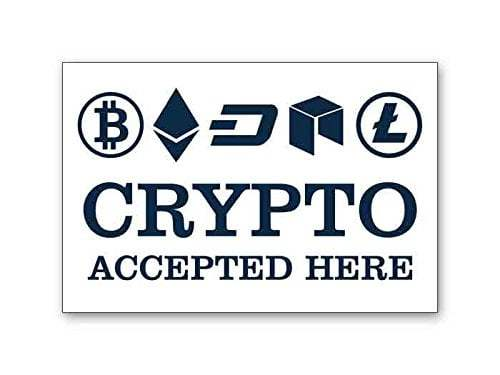 Cryptocurrencies accepted here