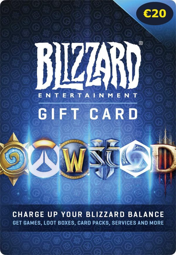 Blizzard Gift Card 20 Euro PC Code