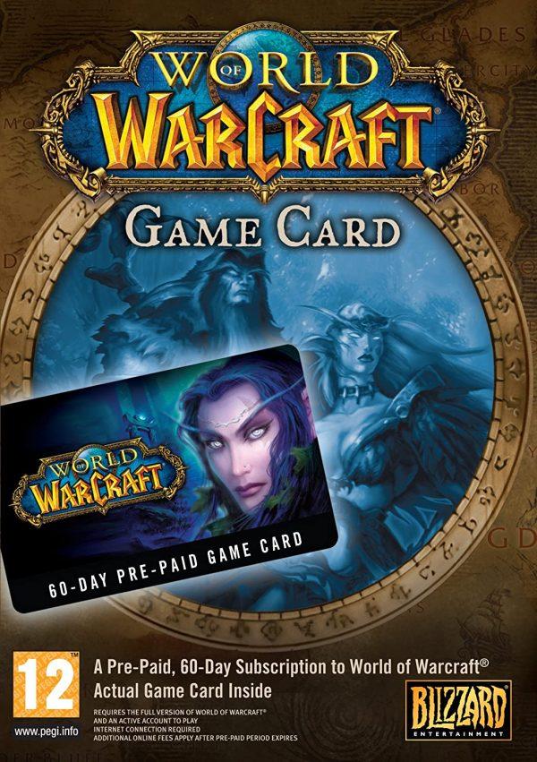 World of Warcraft 60 Days Prepaid Card