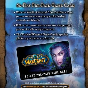 World of Warcraft 60 Days Cod de activare