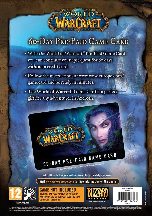 World of Warcraft 60 Days Cod de activare